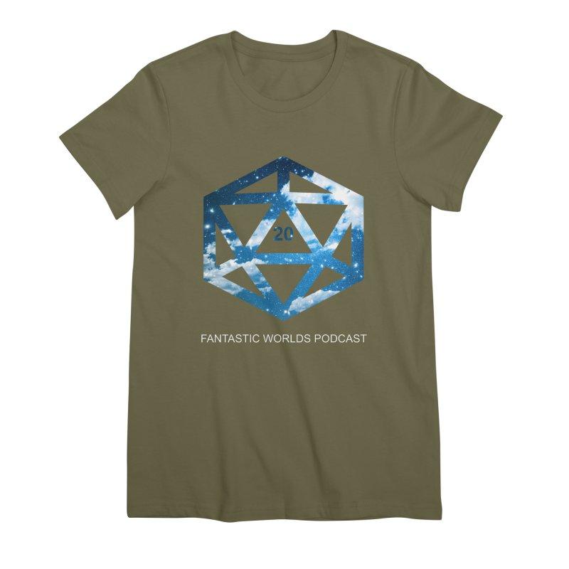 Logo - White Text Women's Premium T-Shirt by fantastic worlds pod's Artist Shop