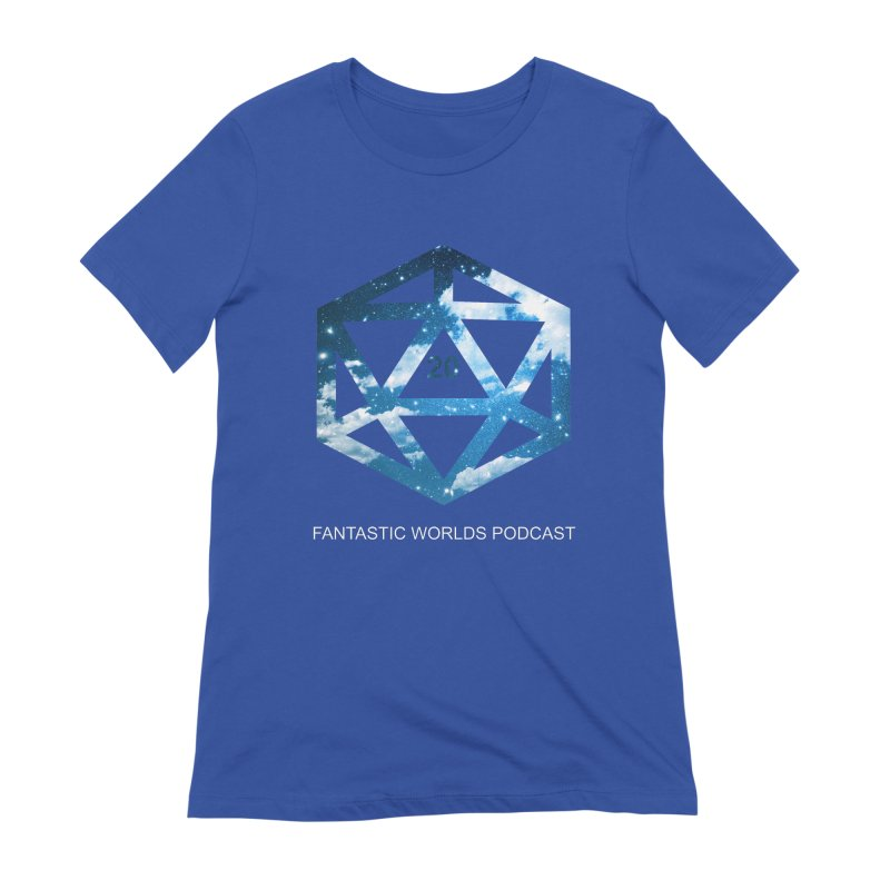 Logo - White Text Women's Extra Soft T-Shirt by fantastic worlds pod's Artist Shop