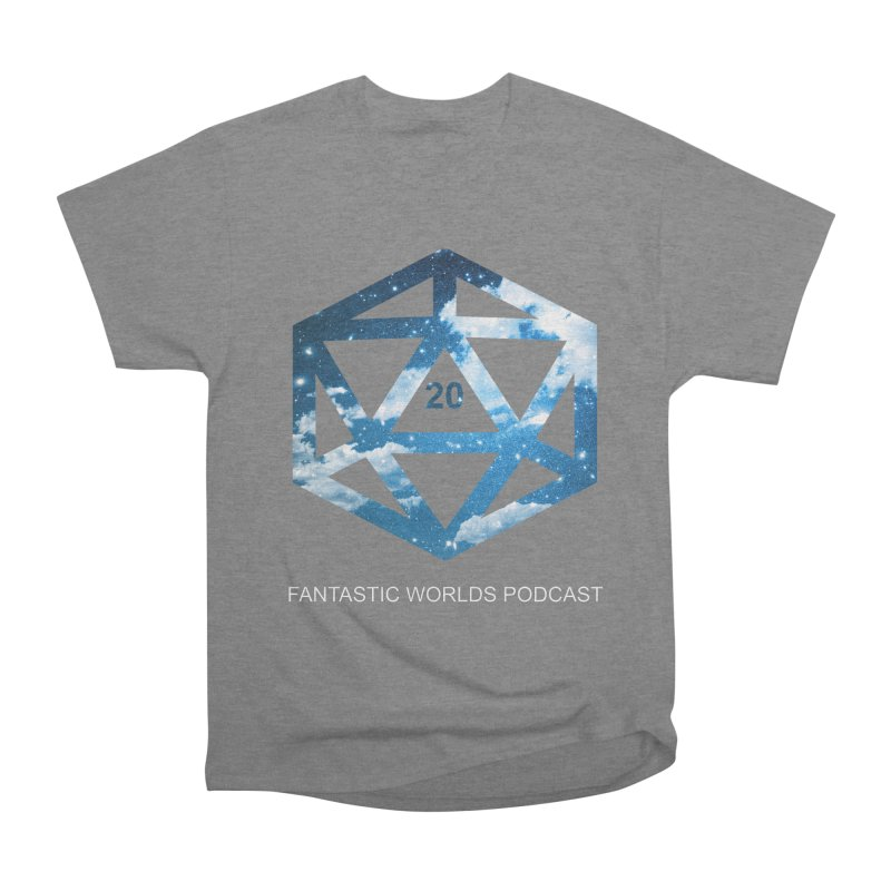 Logo - White Text Women's T-Shirt by Fantastic Worlds Podcast  Shop