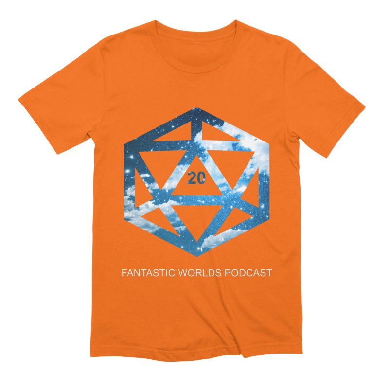 Logo - White Text Men's Extra Soft T-Shirt by fantasticworldspod's Artist Shop