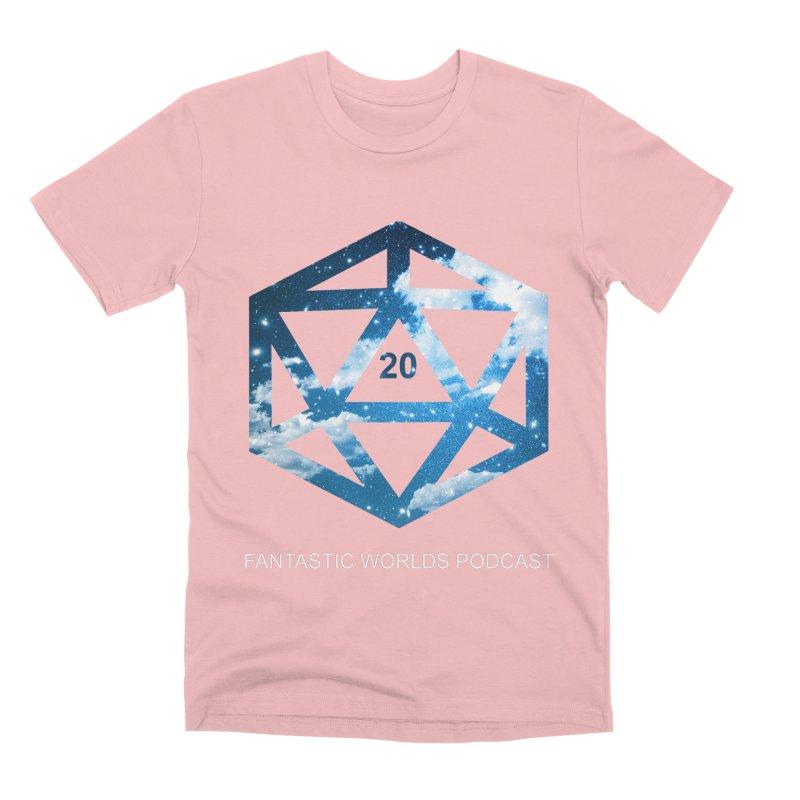 Logo - White Text Men's Premium T-Shirt by Fantastic Worlds Podcast  Shop