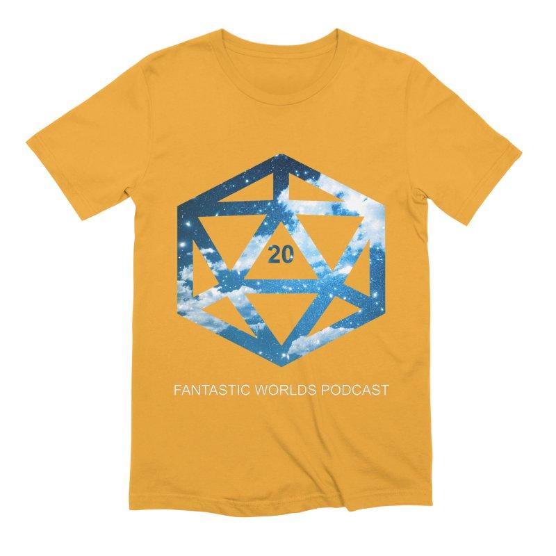 Logo - White Text Men's Extra Soft T-Shirt by fantastic worlds pod's Artist Shop