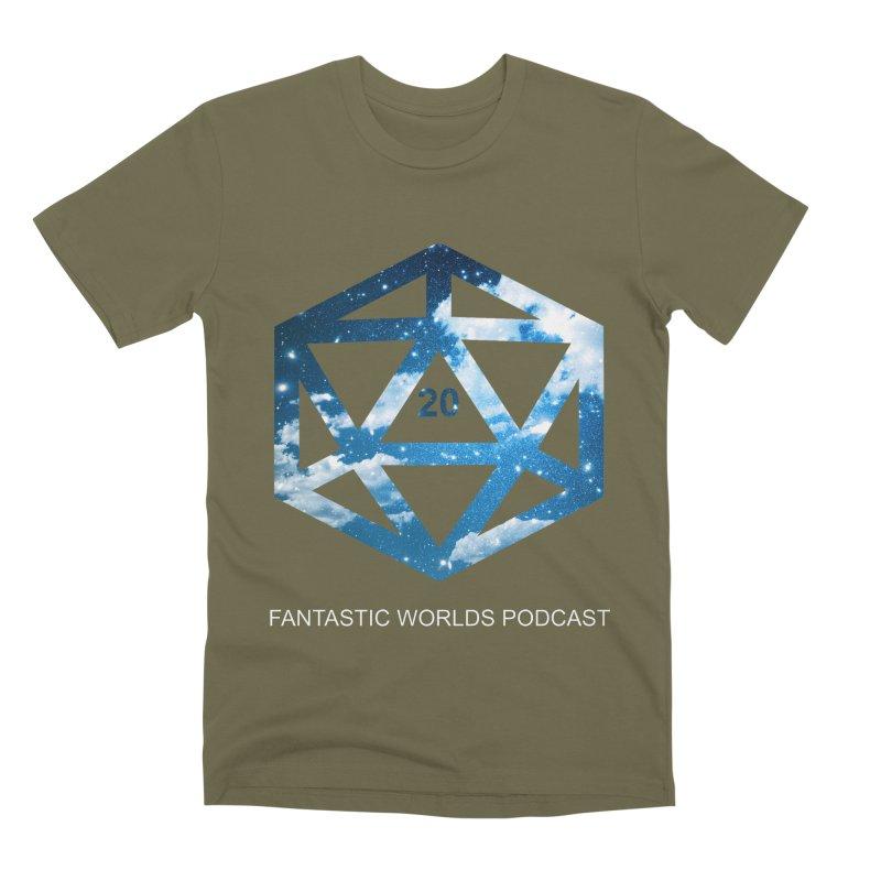 Logo - White Text Men's Premium T-Shirt by fantastic worlds pod's Artist Shop