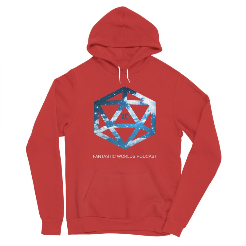 Logo - White Text Women's Pullover Hoody by Fantastic Worlds Podcast  Shop