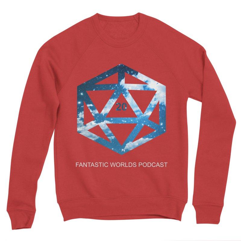 Logo - White Text Men's Sponge Fleece Sweatshirt by fantasticworldspod's Artist Shop