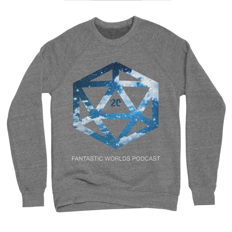 Logo - White Text Men's Sponge Fleece Sweatshirt by fantastic worlds pod's Artist Shop