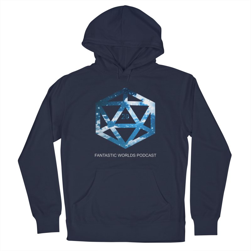 Logo - White Text Men's Pullover Hoody by Fantastic Worlds Podcast  Shop