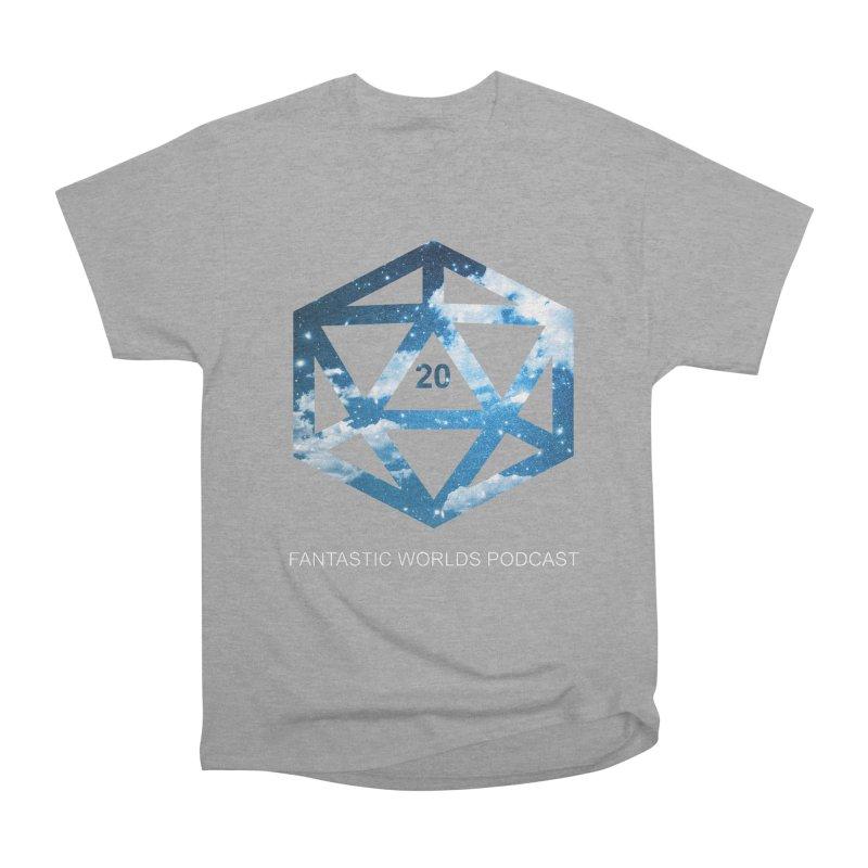 Logo - White Text Women's Heavyweight Unisex T-Shirt by fantastic worlds pod's Artist Shop