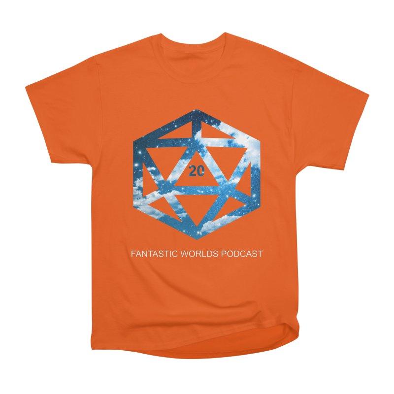 Logo - White Text Women's Heavyweight Unisex T-Shirt by fantasticworldspod's Artist Shop