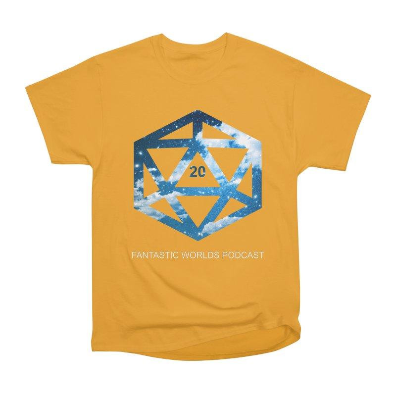 Logo - White Text Men's Heavyweight T-Shirt by fantastic worlds pod's Artist Shop