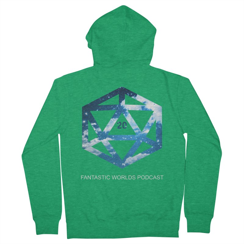 Logo - White Text Women's Zip-Up Hoody by Fantastic Worlds Podcast  Shop