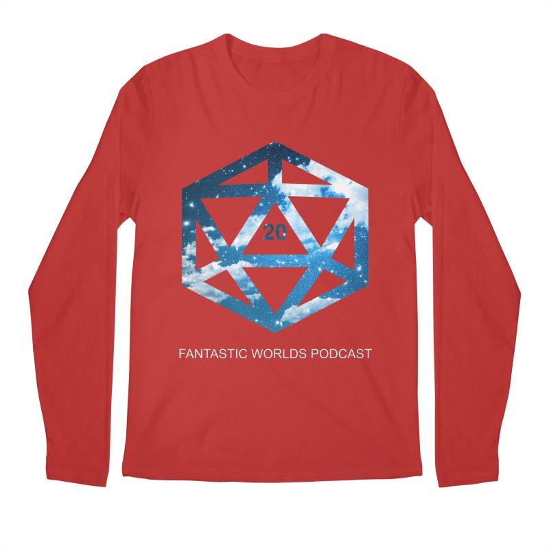 Logo - White Text Men's Regular Longsleeve T-Shirt by Fantastic Worlds Podcast  Shop