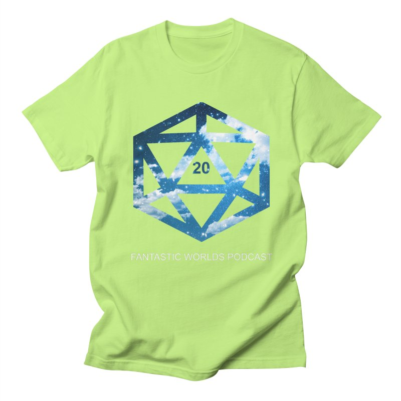 Logo - White Text Women's Regular Unisex T-Shirt by fantastic worlds pod's Artist Shop