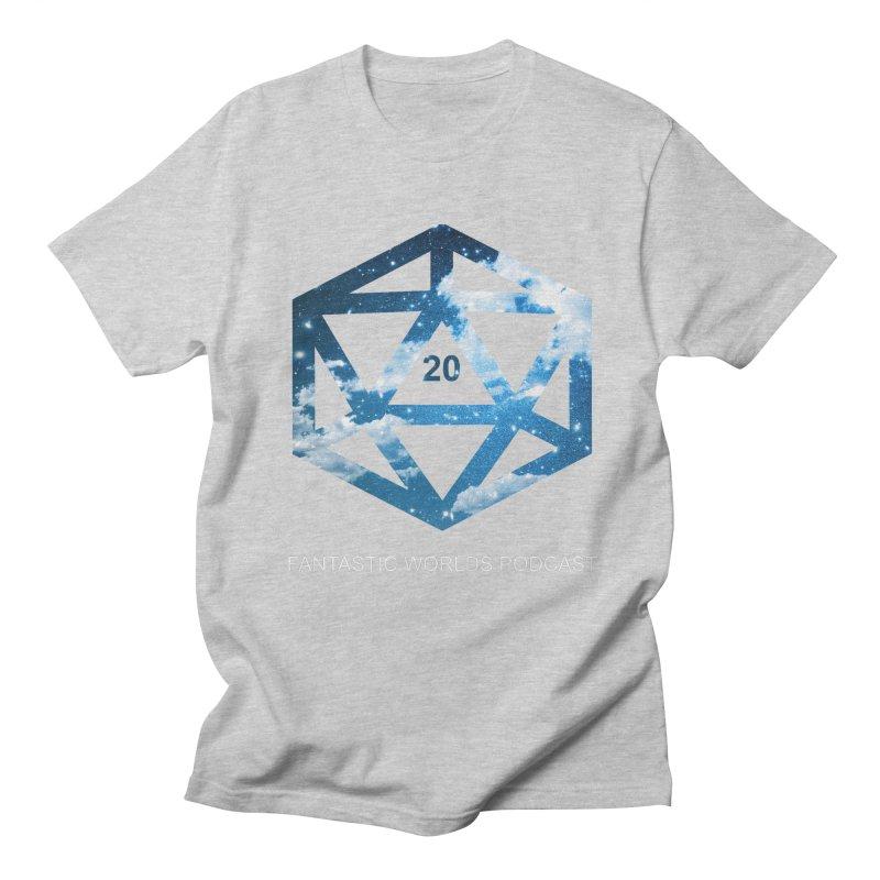 Logo - White Text Men's Regular T-Shirt by fantastic worlds pod's Artist Shop