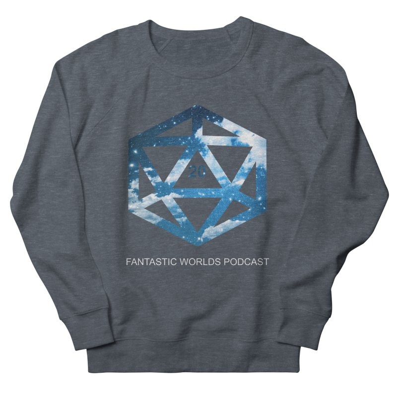 Logo - White Text Men's French Terry Sweatshirt by fantasticworldspod's Artist Shop