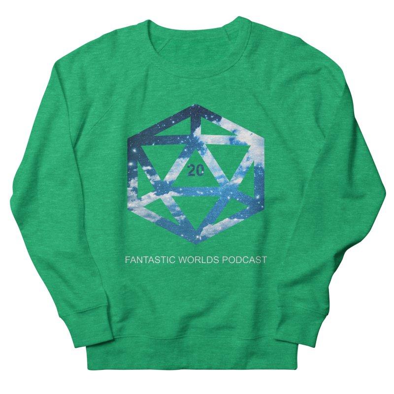 Logo - White Text Men's French Terry Sweatshirt by fantastic worlds pod's Artist Shop