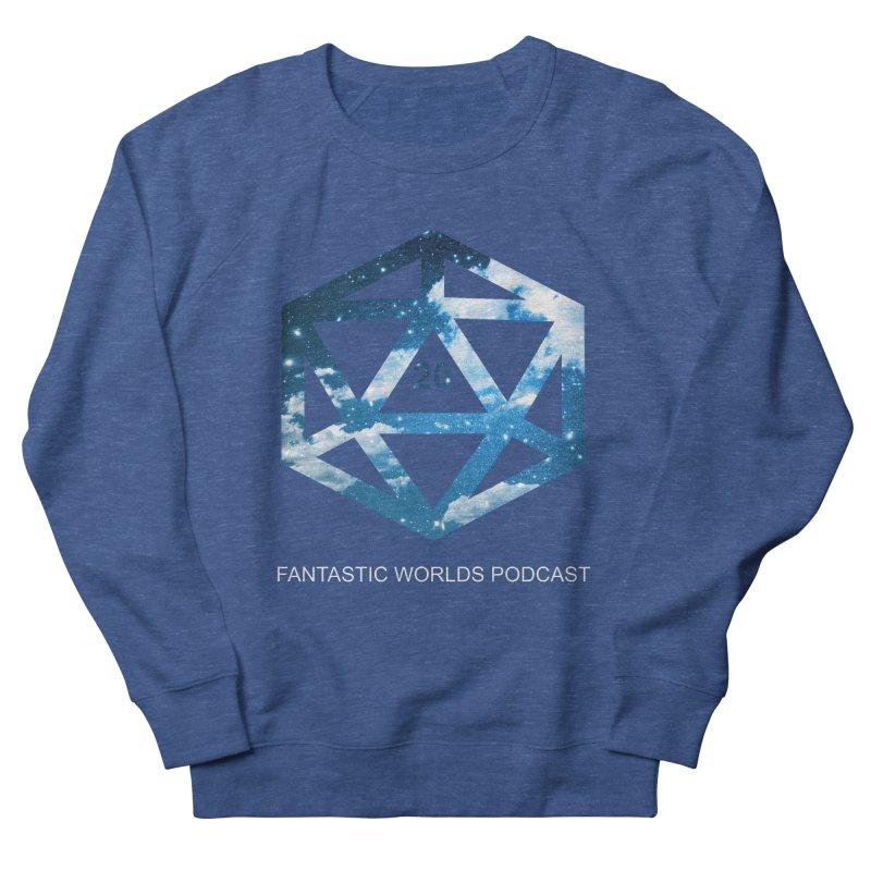 Logo - White Text Men's Sweatshirt by Fantastic Worlds Podcast  Shop