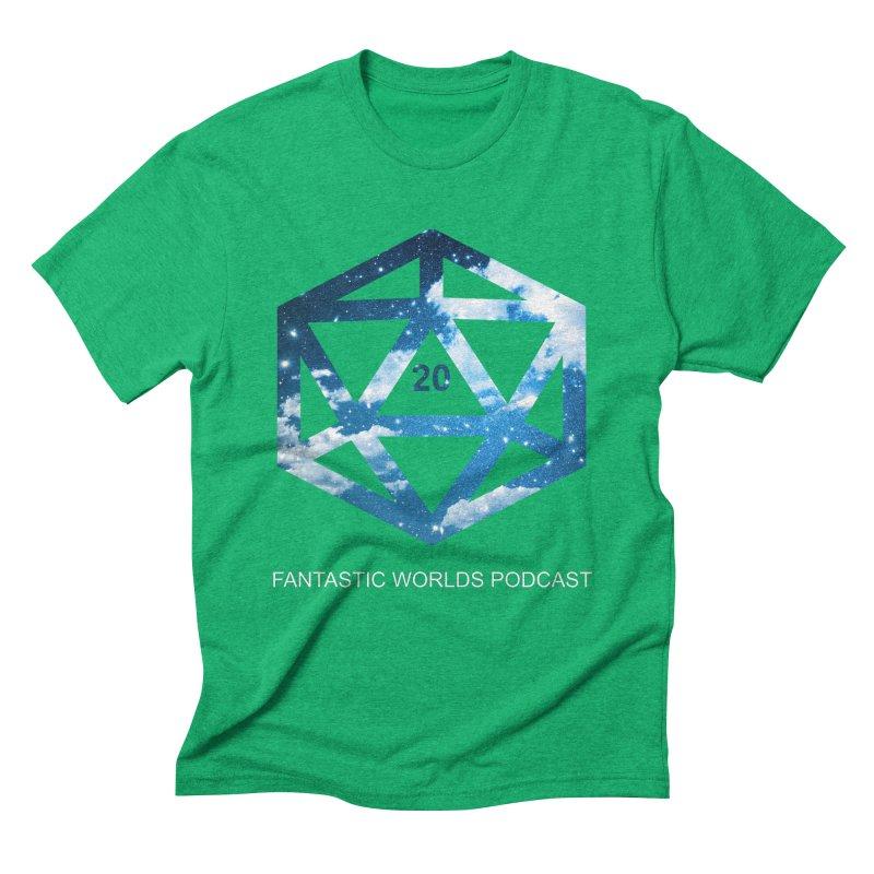 Logo - White Text Men's Triblend T-Shirt by fantastic worlds pod's Artist Shop
