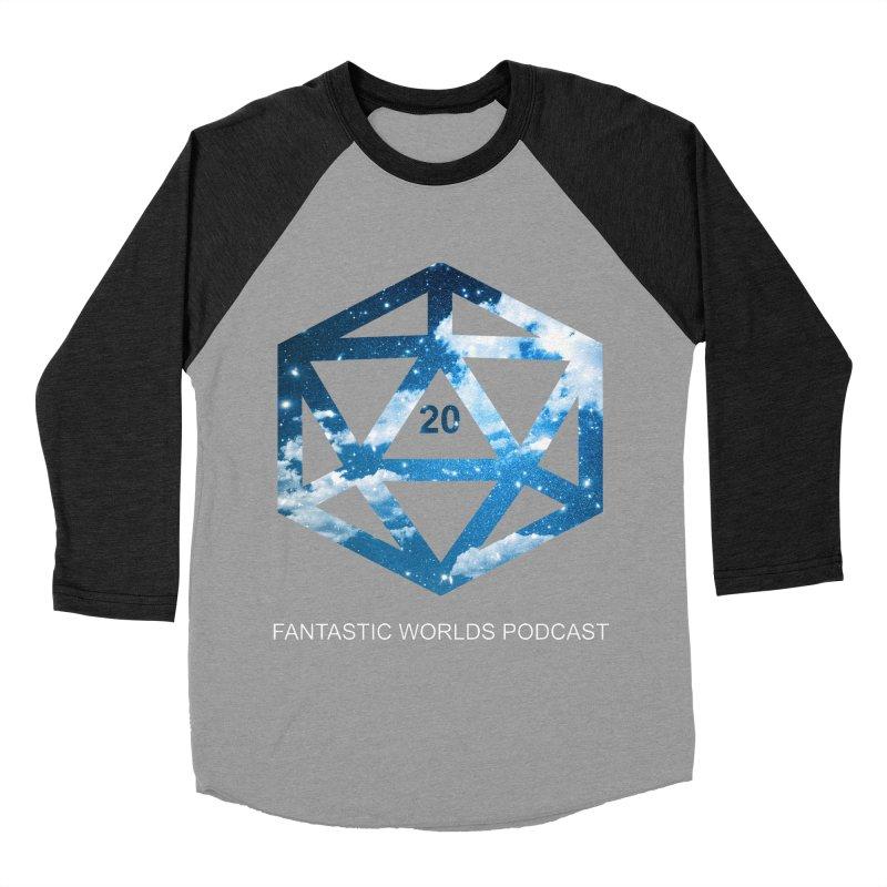 Logo - White Text Women's Baseball Triblend Longsleeve T-Shirt by fantasticworldspod's Artist Shop