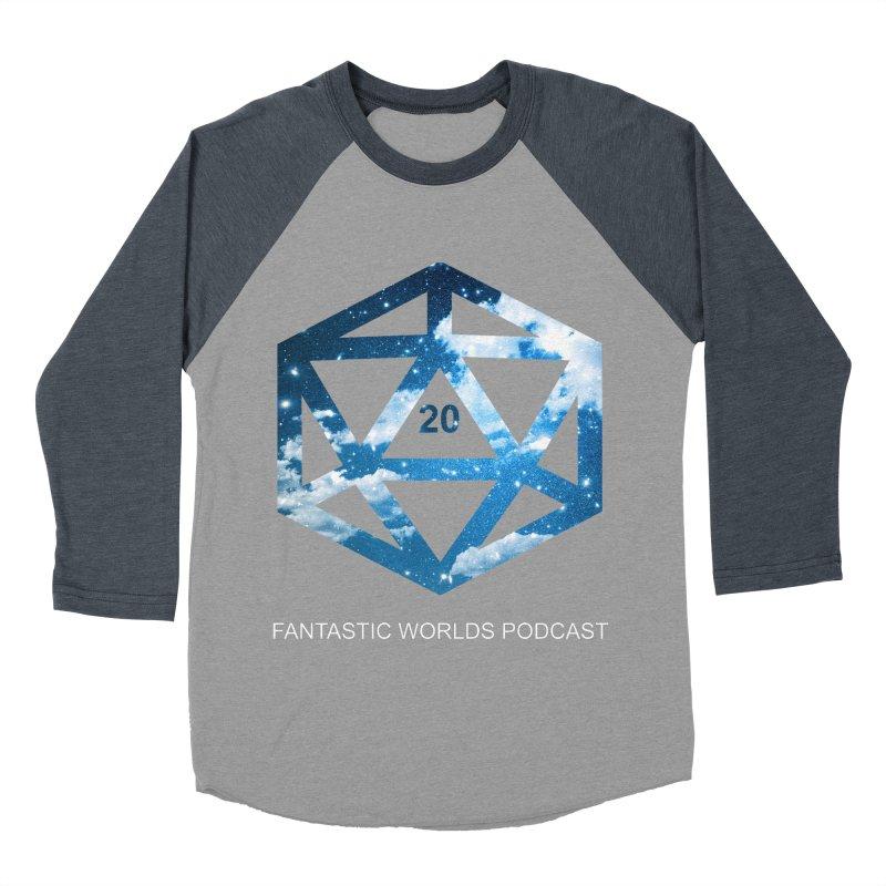 Logo - White Text Women's Baseball Triblend Longsleeve T-Shirt by fantastic worlds pod's Artist Shop
