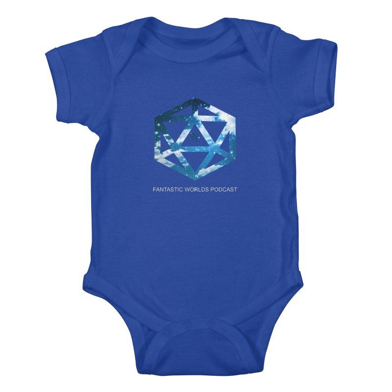 Logo - White Text Kids Baby Bodysuit by fantastic worlds pod's Artist Shop