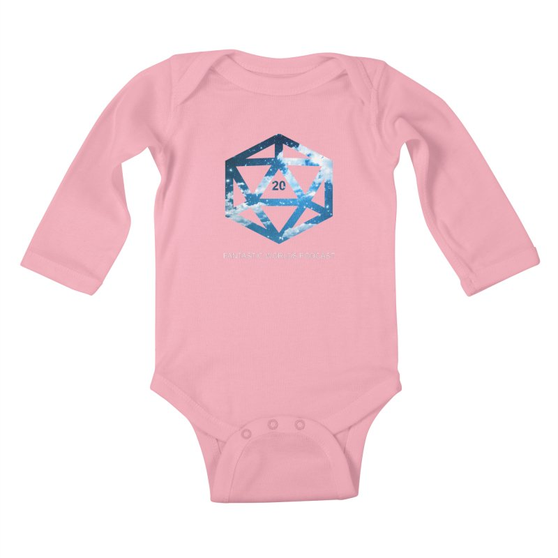 Logo - White Text Kids Baby Longsleeve Bodysuit by fantastic worlds pod's Artist Shop