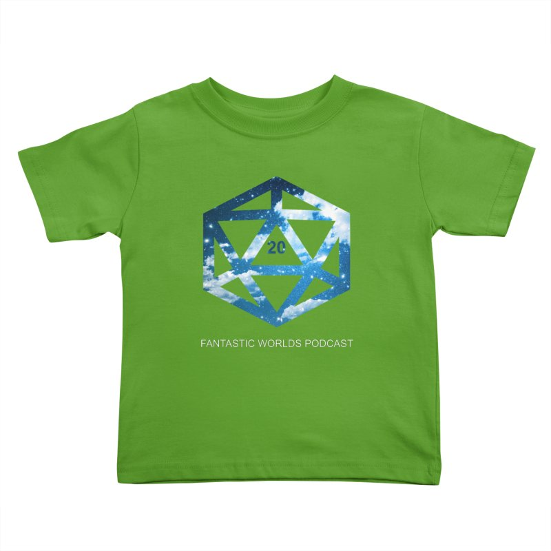 Logo - White Text Kids Toddler T-Shirt by Fantastic Worlds Podcast  Shop