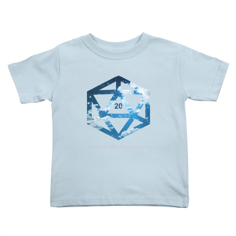 Logo - White Text Kids Toddler T-Shirt by fantastic worlds pod's Artist Shop