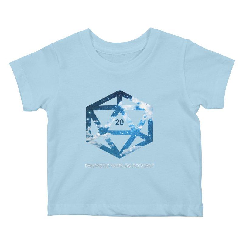 Logo - White Text Kids Baby T-Shirt by fantastic worlds pod's Artist Shop