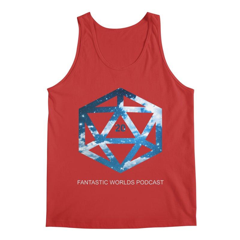 Logo - White Text Men's Regular Tank by Fantastic Worlds Podcast  Shop