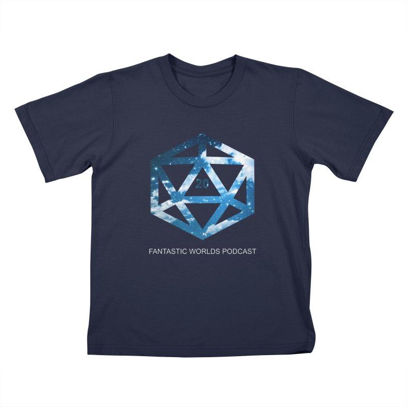 Logo - White Text Kids T-Shirt by fantastic worlds pod's Artist Shop