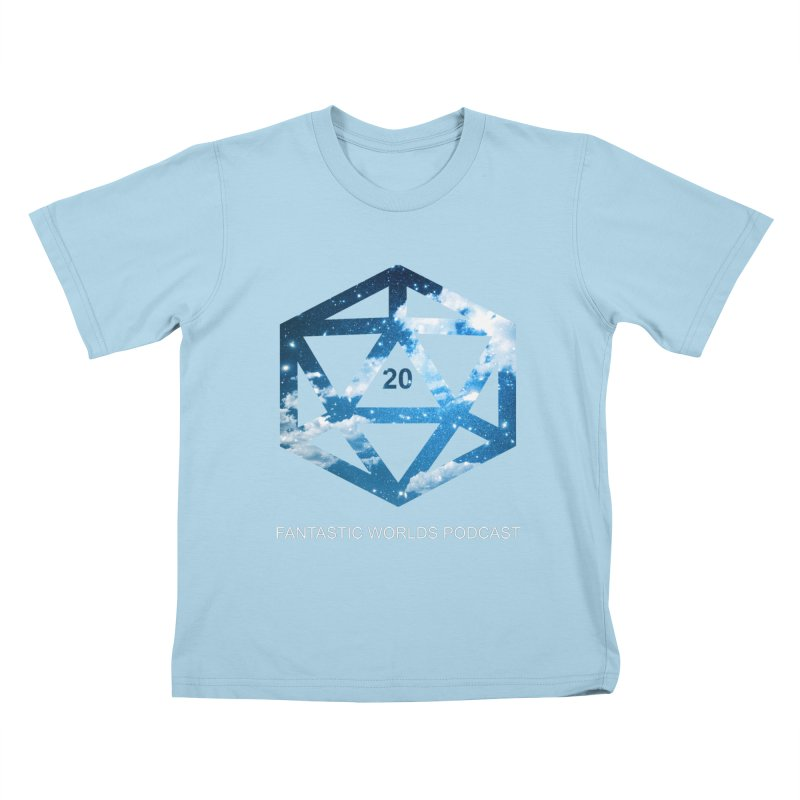 Logo - White Text Kids T-Shirt by fantastic worlds pod's Artist Shop