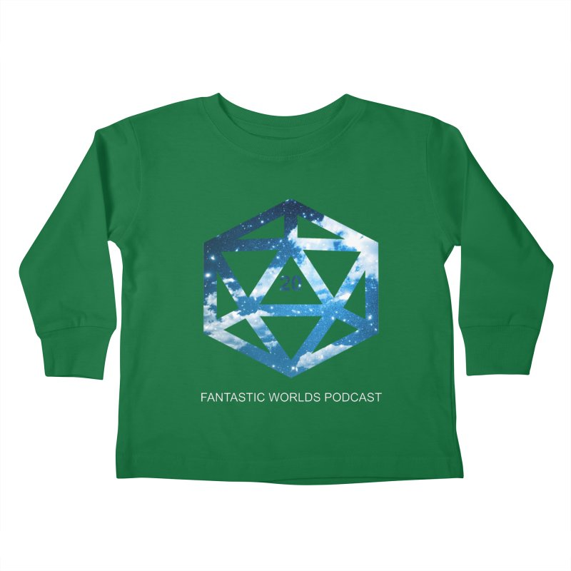 Logo - White Text Kids Toddler Longsleeve T-Shirt by fantastic worlds pod's Artist Shop