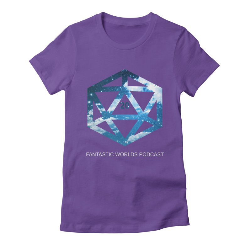 Logo - White Text Women's Fitted T-Shirt by fantasticworldspod's Artist Shop
