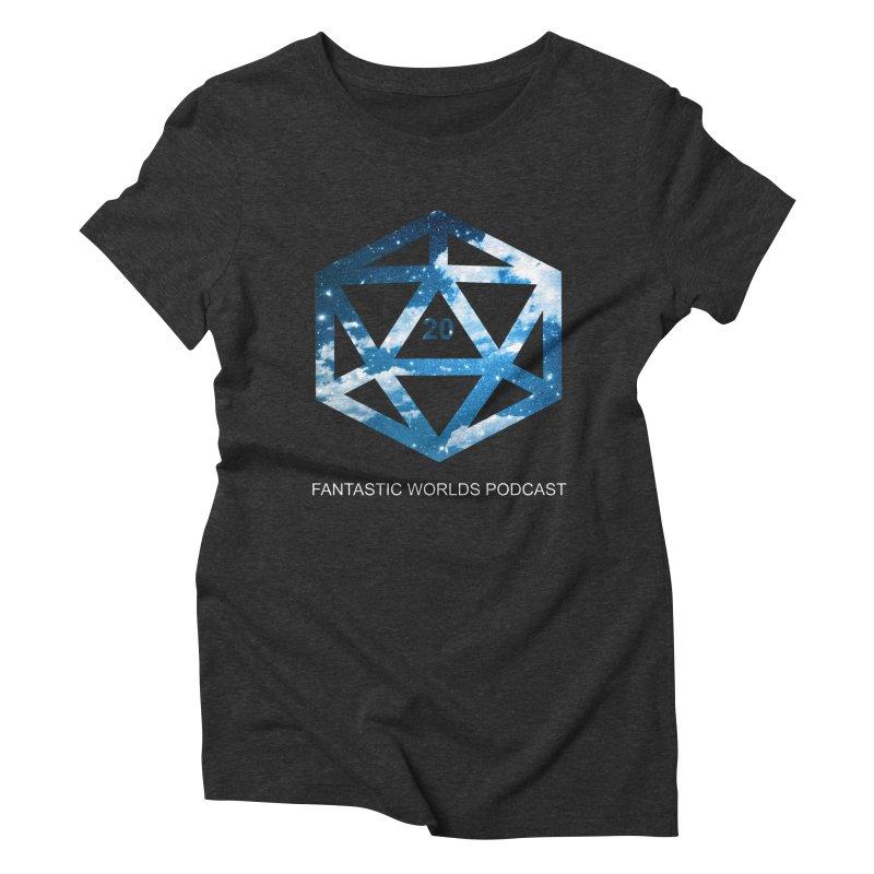 Logo - White Text Women's Triblend T-Shirt by fantastic worlds pod's Artist Shop