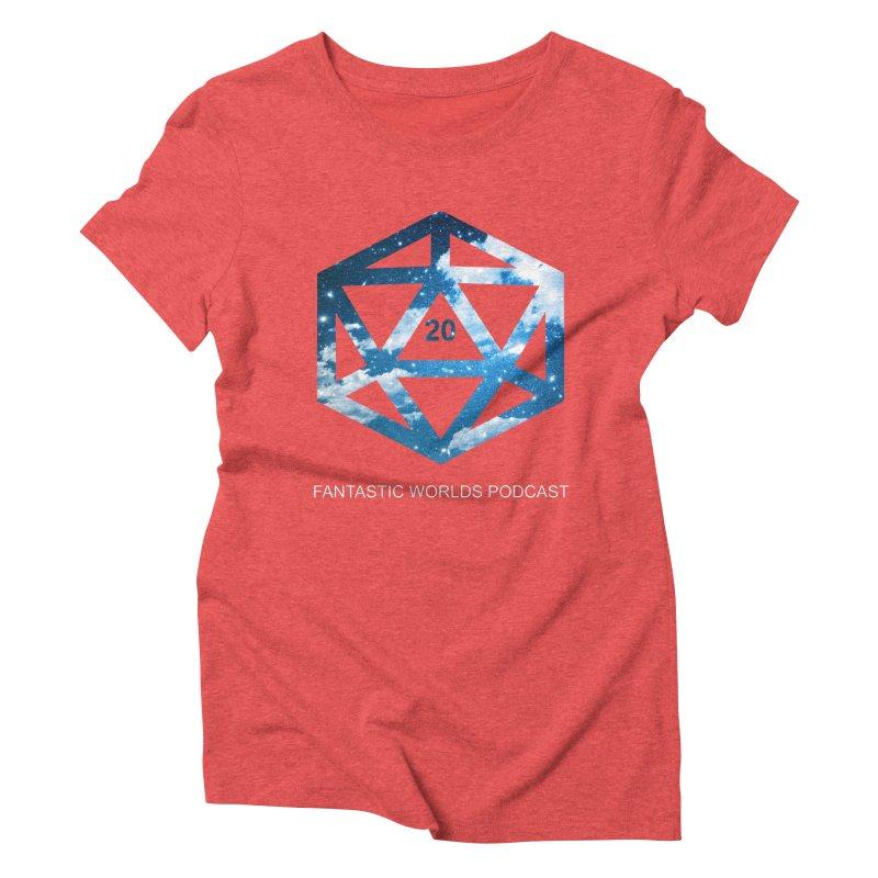 Logo - White Text Women's Triblend T-Shirt by fantasticworldspod's Artist Shop