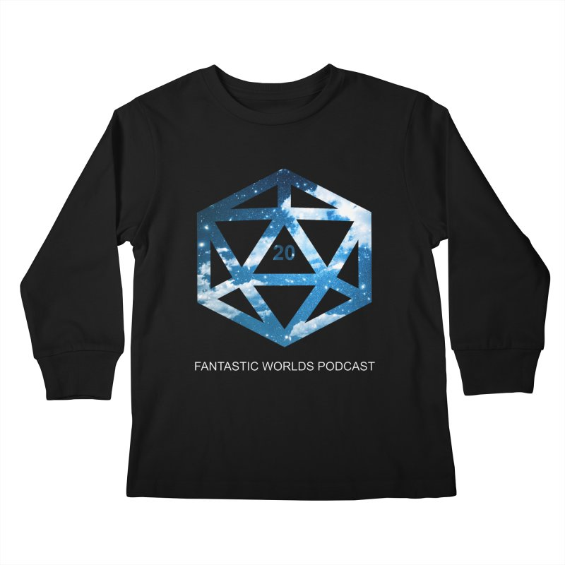 Logo - White Text Kids Longsleeve T-Shirt by fantastic worlds pod's Artist Shop