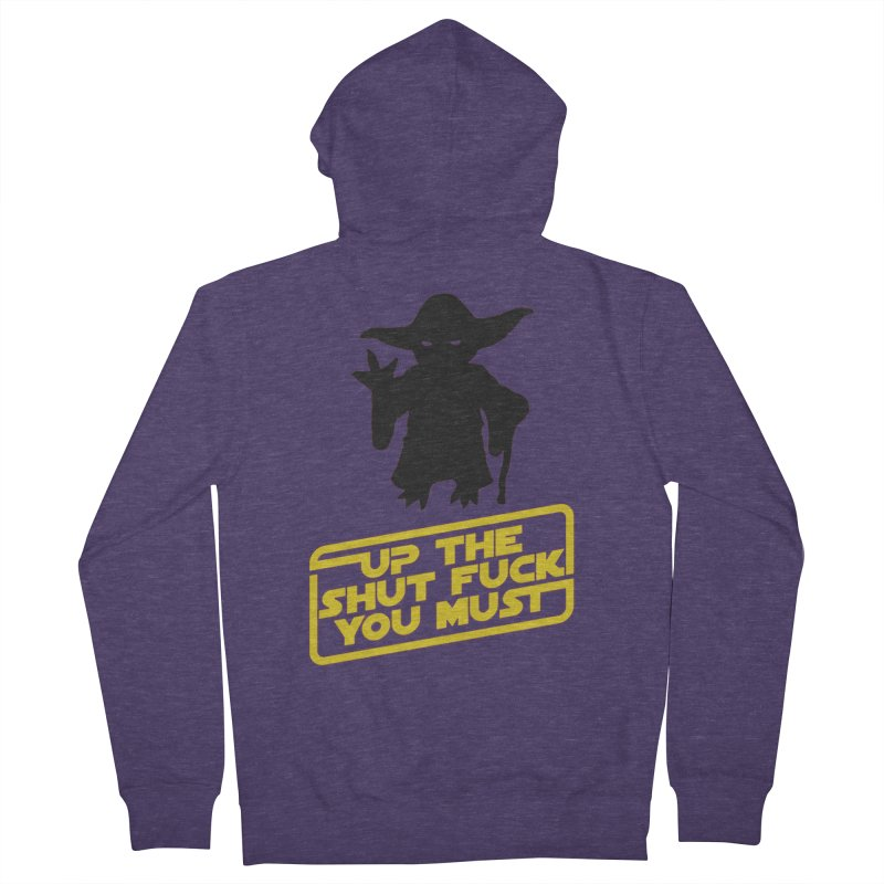 Star Wars Yoda Shut Up Men's Zip-Up Hoody by Game Of Thrones and others Collection