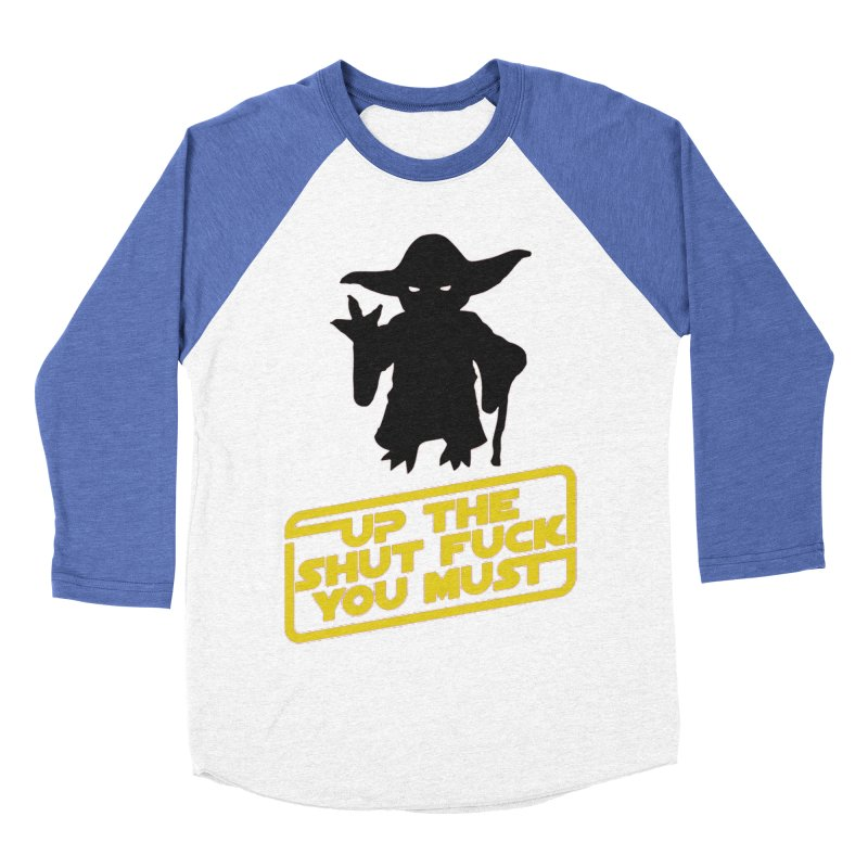 Star Wars Yoda Shut Up Men's Baseball Triblend Longsleeve T-Shirt by Game Of Thrones and others Collection