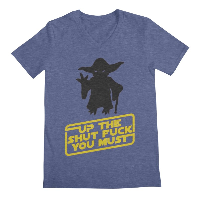 Star Wars Yoda Shut Up Men's Regular V-Neck by Game Of Thrones and others Collection
