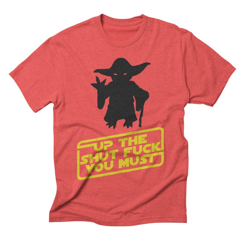 Star Wars Yoda Shut Up Men's Triblend T-shirt by Game Of Thrones and others Collection