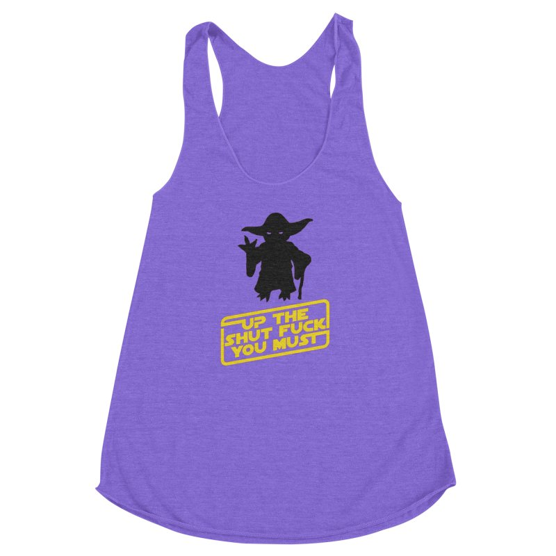 Star Wars Yoda Shut Up Women's Racerback Triblend Tank by Game Of Thrones and others Collection
