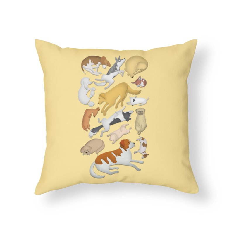 SLEEPING DOGS 101 Home Throw Pillow by Farly Artist Shop