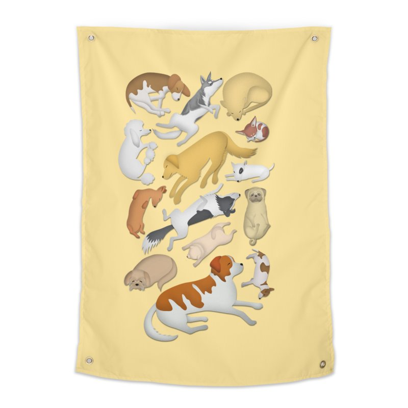 SLEEPING DOGS 101 Home Tapestry by Farly Artist Shop