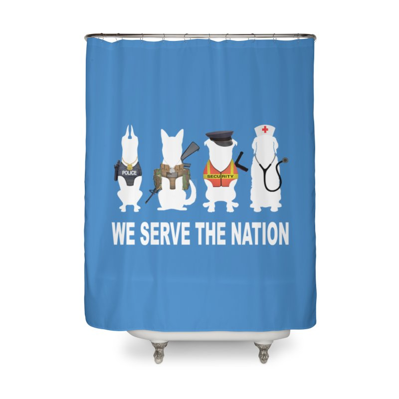 SERVICE DOG Home Shower Curtain by Farly Artist Shop