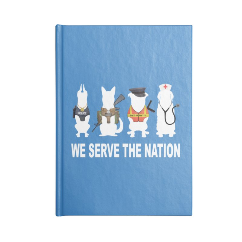 SERVICE DOG Accessories Notebook by Farly Artist Shop