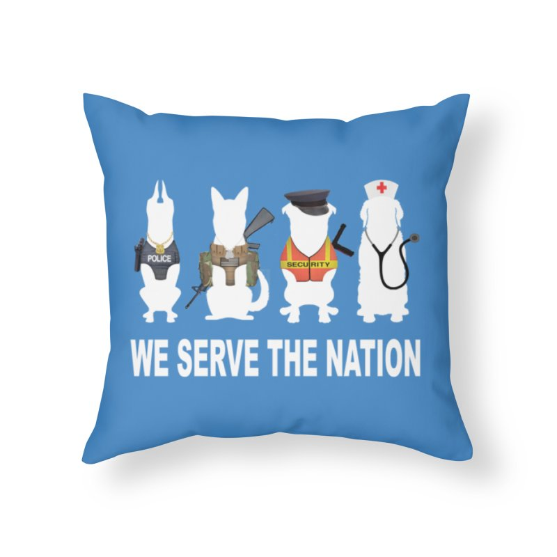 SERVICE DOG Home Throw Pillow by Farly Artist Shop