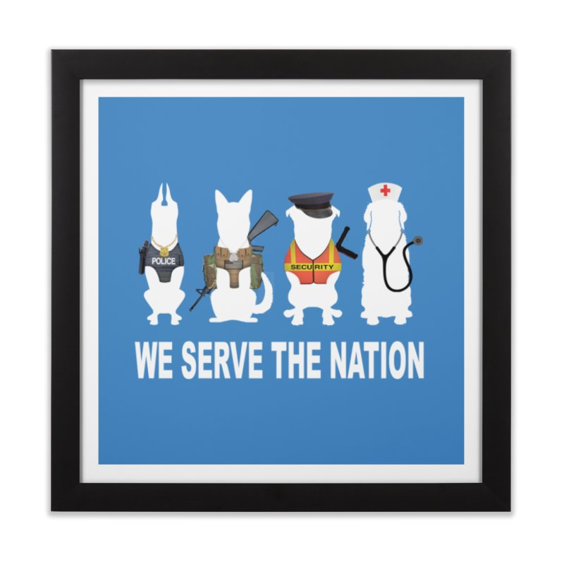 SERVICE DOG Home Framed Fine Art Print by Farly Artist Shop
