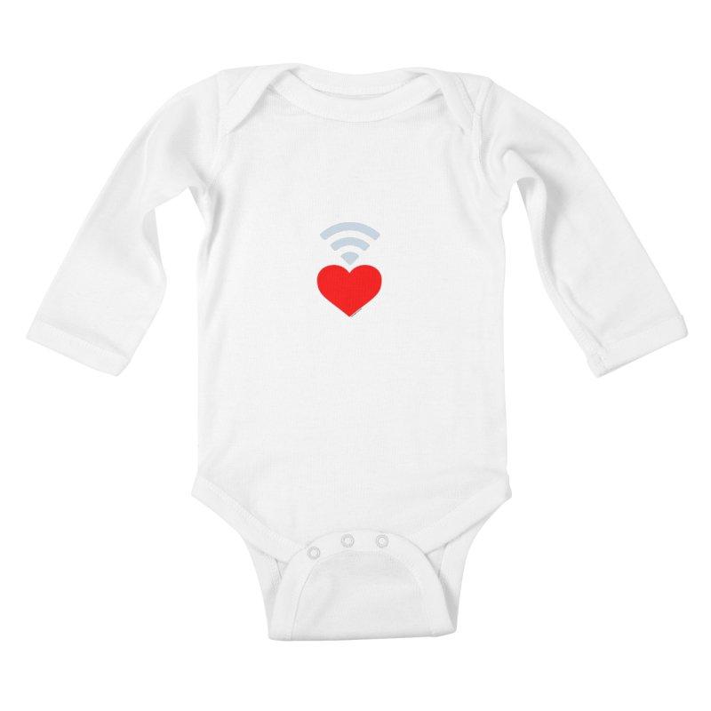 Farmington Voice logo Kids Baby Longsleeve Bodysuit by farmingtonvoice's Artist Shop