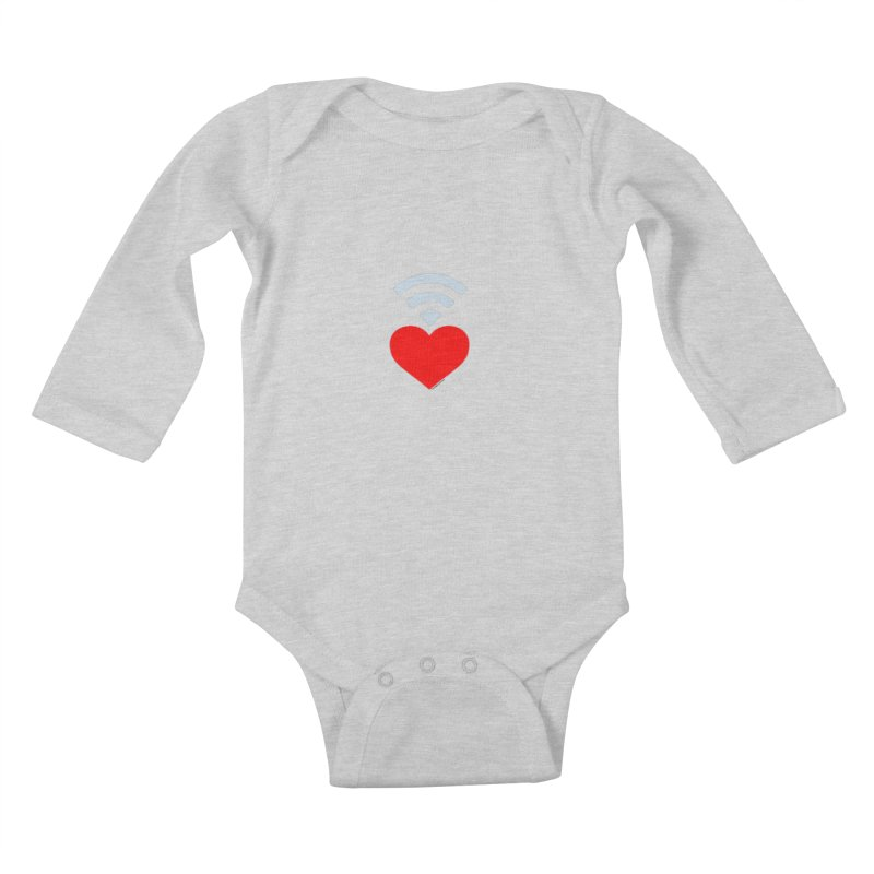 Farmington Voice logo Kids Baby Longsleeve Bodysuit by farmingtonvoice's Artist Shop